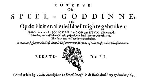 Euterpe oft Speel-goddinne, second title page