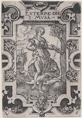 Euterpe, engraving by Virgile Solis (16th century)